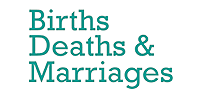 Births, Deaths & Marriages graphic
