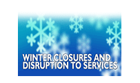 Winter closures and disruption to services graphic