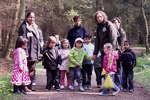 Nursery Group with the Ranger Service