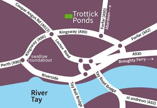 Trottick Ponds map