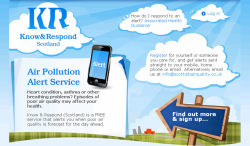 Know and Respond Air Pollution Alert Service poster