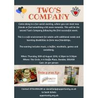 Twos Company - Social Event for Adults with Additional Needs Image