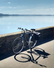 River Tay with bicycle
