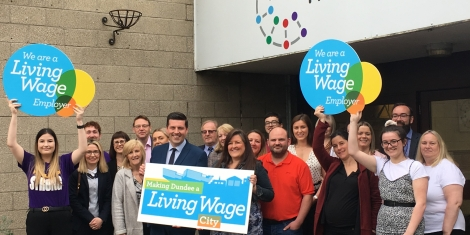 Living Wage Employers welcome Scottish Government Minister  Image