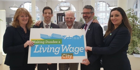 """Making Living Wage Places"": Dundee Becomes First UK City to be Recognised for L Image"