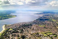 Aerial photograph of the River Tay
