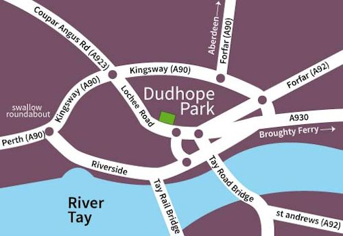 Dudhope Park map