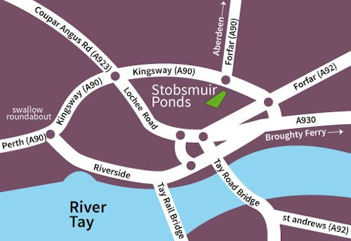 Stobsmuir Pond map