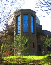 Back view of Mills Observatory