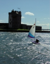 Broughty Castle with boat