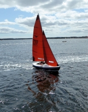 Yacht on the River Tay